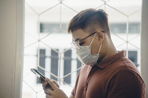 wearing surgical face mask during new type Coronavirus Covid-19 pneumonia outbreak