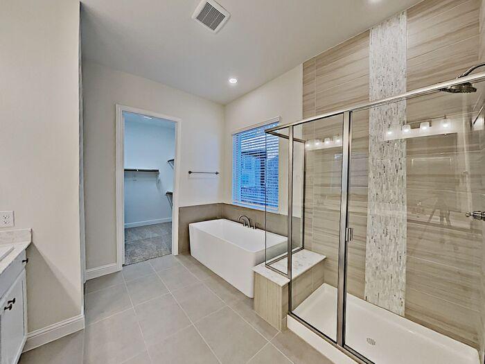 Updated Plano rental home bathroom better efficiency